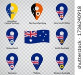 eight flags the states of... | Shutterstock .eps vector #1736240918