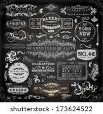 vector set of calligraphic... | Shutterstock .eps vector #173624522