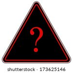rounded triangle shape hazard... | Shutterstock . vector #173625146