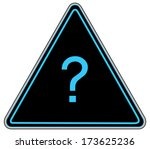 rounded triangle shape hazard... | Shutterstock . vector #173625236