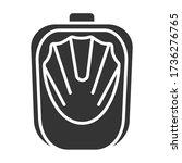 nail bath black glyph icon....