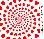 design red whirl heart backdrop.... | Shutterstock .eps vector #173628782