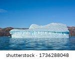 Big iceberg that have broken away from Eqip Sermia glacier.