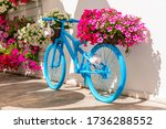 Old Bike With Flowers   Street...