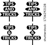 tips and tricks signage vector... | Shutterstock .eps vector #1736292128