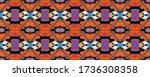 geometric rhombus seamless... | Shutterstock . vector #1736308358