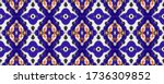 vibrant geometric swimwear... | Shutterstock . vector #1736309852