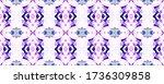 geo portugese ikat rapport.... | Shutterstock . vector #1736309858