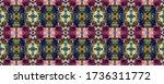 paintbrush aztec background. ... | Shutterstock . vector #1736311772