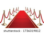 3d realistic vector red carpet... | Shutterstock .eps vector #1736319812
