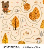 Small Bear In The Autumn Forest....