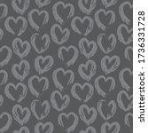 grey heart shaped valentine s... | Shutterstock .eps vector #1736331728