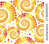 the seamless background is a... | Shutterstock .eps vector #1736344295