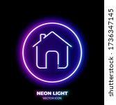 home neon light line art vector ...