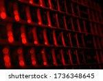 keyboard  image in strange and...   Shutterstock . vector #1736348645