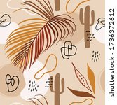 abstract tropical seamless... | Shutterstock .eps vector #1736372612