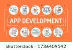 app development word lettering...