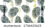 tropical pattern  graphic palm... | Shutterstock .eps vector #1736425625
