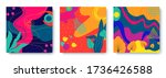 set of bright abstract cards... | Shutterstock .eps vector #1736426588