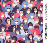 crowd of people in medical...   Shutterstock . vector #1736426828