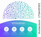 ophthalmology concept in half...   Shutterstock .eps vector #1736439392