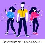 teamwork communication in...   Shutterstock .eps vector #1736452202
