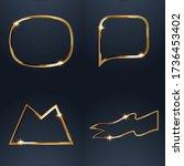set of sale golden labels retro ...   Shutterstock .eps vector #1736453402