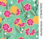 fruit seamless pattern ... | Shutterstock .eps vector #1736467835