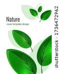 fresh bright green leaves....   Shutterstock .eps vector #1736472962