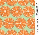 fruit seamless pattern  orange... | Shutterstock .eps vector #1736482715