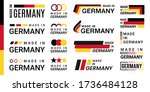 made in germany logo labels set ... | Shutterstock .eps vector #1736484128