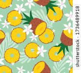 fruit seamless pattern ... | Shutterstock .eps vector #1736489918