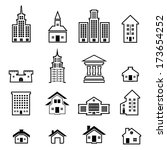 building vector set | Shutterstock .eps vector #173654252