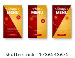 food menu banner social media... | Shutterstock .eps vector #1736543675