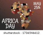 many hands for africa day  25... | Shutterstock .eps vector #1736546612