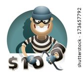 theft money. thief with a... | Shutterstock .eps vector #173657792