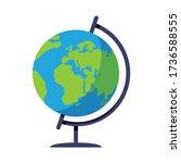 school globe semi flat rgb... | Shutterstock .eps vector #1736588555