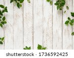 Old White Wooden Background...