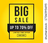 vector illustration of a sale... | Shutterstock .eps vector #1736595695