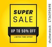 vector illustration of a sale... | Shutterstock .eps vector #1736595698