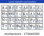 greek alphabet and symbols ... | Shutterstock .eps vector #173660282