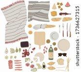 summer picnic. a set of... | Shutterstock .eps vector #1736627315