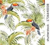 tropical seamless vector... | Shutterstock .eps vector #1736640038