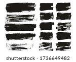 flat paint brush thin long  ... | Shutterstock .eps vector #1736649482