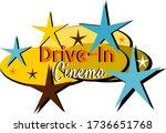 mid century modern drive in... | Shutterstock .eps vector #1736651768