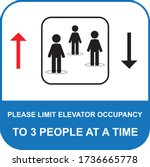 maximum people allowed in the... | Shutterstock .eps vector #1736665778
