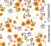 abstract floral background.... | Shutterstock .eps vector #1736669345