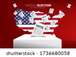 flying vote paper put in... | Shutterstock .eps vector #1736680058
