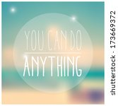 quote  inspirational poster ... | Shutterstock .eps vector #173669372