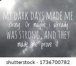 "Mental Health Quote. ""my Dark..."